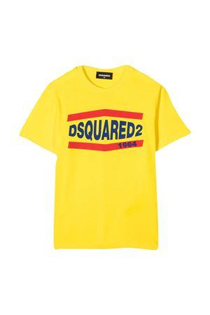 Yellow teen t-shirt Dsquared2 Kids  DSQUARED2 KIDS | 7 | DQ0150D002FDQ205T