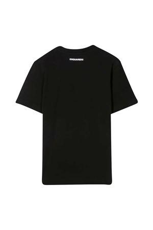 Dsquared2 Kids teen black t-shirt DSQUARED2 KIDS   7   DQ0160D00XKDQ900T