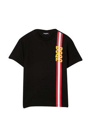 Dsquared2 Kids black teen t-shirt  DSQUARED2 KIDS | 7 | DQ0192D00MQDQ900T