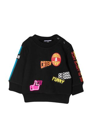 Dsquared2 Kids black sweatshirt  DSQUARED2 KIDS | -108764232 | DQ0193D00J7DQ900
