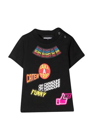 Dsquared2 Kids black t-shirt  DSQUARED2 KIDS | 7 | DQ0197D00MMDQ900