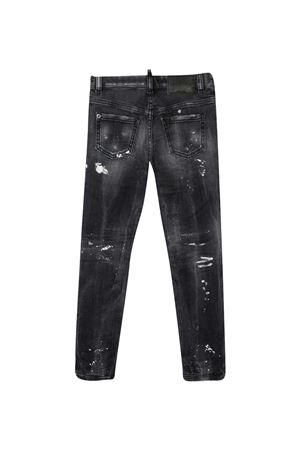 Skinny jeans with crystals Dsquared2 kids DSQUARED2 KIDS   9   DQ01DXD004UDQ02