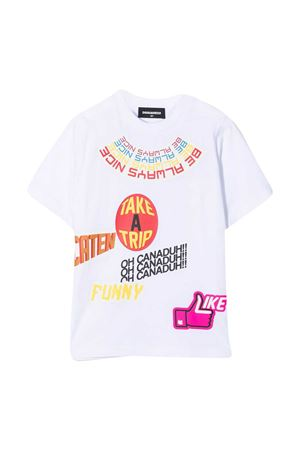 White t-shirt teen Dsquared2 Kids  DSQUARED2 KIDS | 7 | DQ0201D00MQDQ100T