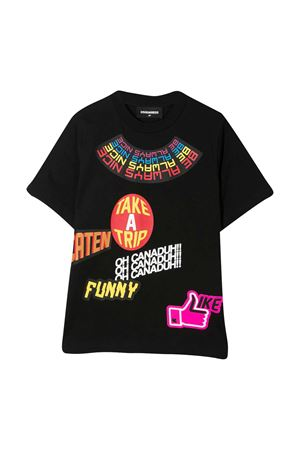Dsquared2 Kids black teen t-shirt  DSQUARED2 KIDS | 7 | DQ0201D00MQDQ900T
