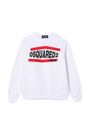 Felpa bianca teen Dsquared2 Kids DSQUARED2 KIDS | -108764232 | DQ0208D002YDQ100T