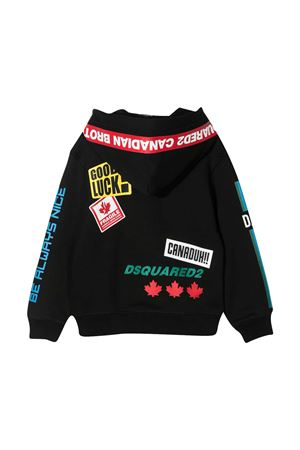 Felpa nera teen Dsquared2 Kids DSQUARED2 KIDS | -108764232 | DQ0224D00J7DQ900T