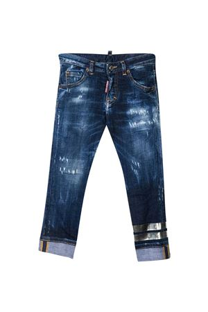 Blue jeans Dsquared2 kids with worn effect DSQUARED2 KIDS | 9 | DQ0225D005LDQ01