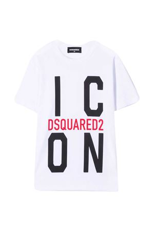 T-shirt teen con stampa Dsquared2 kids DSQUARED2 KIDS   7   DQ0243D002FDQ100T