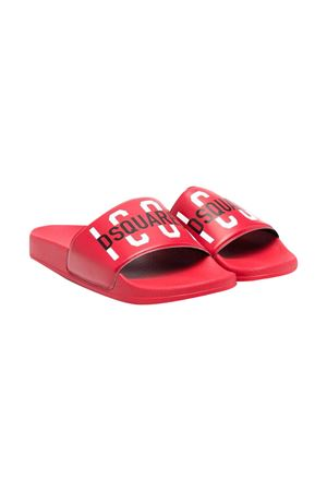 Ciabatte rosse teen Dsquared2 kids DSQUARED2 KIDS | 11041766 | DQ0331P4137T4046T