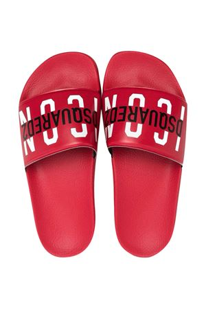 Ciabatte rosse Dsquared2 kids DSQUARED2 KIDS | 11041766 | DQ0331P4137T4046
