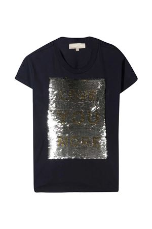 T-shirt blu con paillettes oro Elie Saab Junior ELIE SAAB JUNIOR | 8 | 3O8001OA060620OR