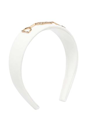 Elisabetta Franchi My Girl white headband  ELISABETTA FRANCHI LA MIA BAMBINA   -611852221   EFAV63GA85WE0250022