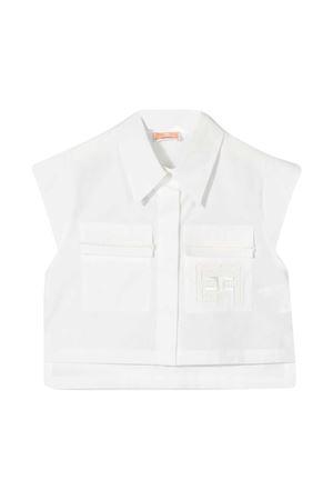 Shirt with Elisabetta Franchi La My Girl embroidery ELISABETTA FRANCHI LA MIA BAMBINA | 6 | EFCA129CE201WE0250022