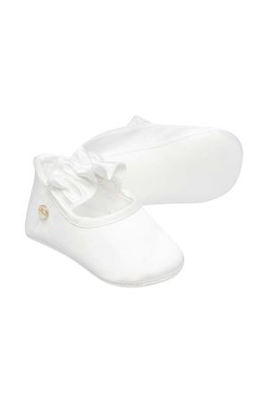 White ballet flats Elisabetta Franchi La mia bambina ELISABETTA FRANCHI LA MIA BAMBINA   12   ENCR04RA53WE0070002
