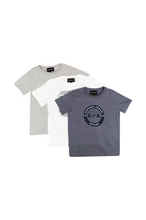 Set of teen T-shirts with Emporio Armani kids logo EMPORIO ARMANI KIDS | 75988882 | 3K4D024J09Z0668T