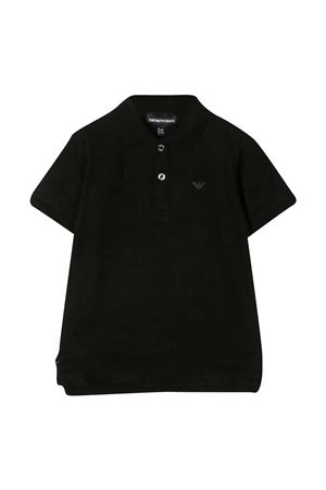 Black teen polo shirt with logo Emporio Armani kids EMPORIO ARMANI KIDS | 2 | 3K4FA91JVPZF036T