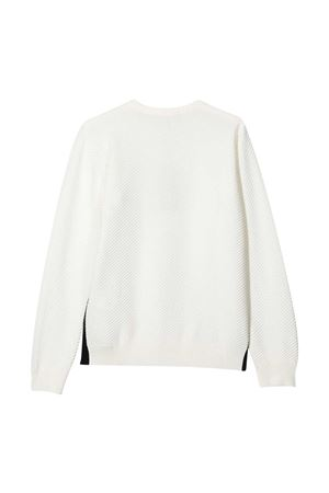 Pullover bianco teen Emporio Armani Kids EMPORIO ARMANI KIDS | 253743335 | 3K4MXD4M17Z0101T