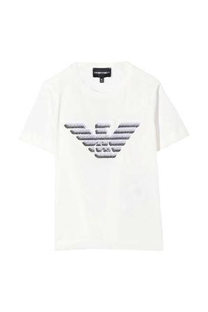 Emporio Armani Kids white teen t-shirt  EMPORIO ARMANI KIDS | 8 | 3K4TC31JUCZ0101T
