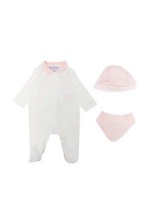 White and pink baby set Emporio Armani kids EMPORIO ARMANI KIDS | 75988882 | 3KHV794JGCZF113
