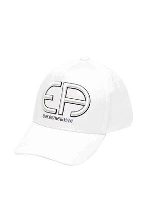 Cappello bianco con visiera e logo Emporio Armani kids EMPORIO ARMANI KIDS | 75988881 | 4046291P49041510