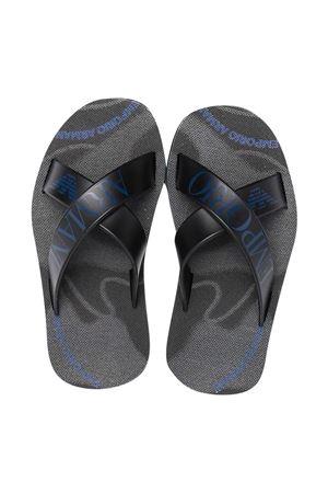 Black teen sandals with Emporio Armani Kids print EMPORIO ARMANI KIDS | 5032315 | XYPS03XOZ13Q143T