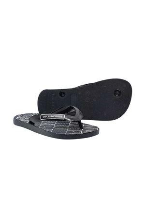 Black flip-flops with Emporio Armani Kids print EMPORIO ARMANI KIDS | 11041766 | XYQS01XOZ14N527