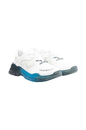 Sneakers teen bianche effetto sfumato Emporio Armani Kids EMPORIO ARMANI KIDS | 12 | XYX008XOI45Q116T