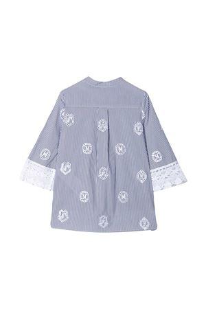 Blusa blu a righe teen Ermanno Scervino junior ERMANNO SCERVINO JUNIOR | 5032334 | ESFCA002CR214WS0034011T