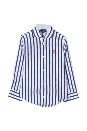 Camicia teen bianca a righe blu Fay kids FAY KIDS | 5032334 | 5O5070OB320100BLT