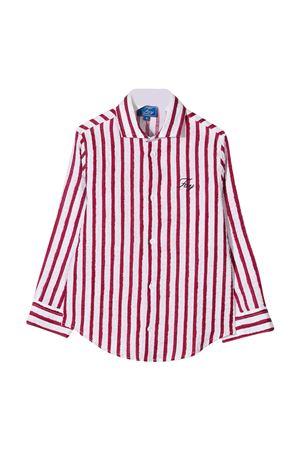 Camicia bianca a righe rosse Fay kids FAY KIDS | 5032334 | 5O5070OB320100RO