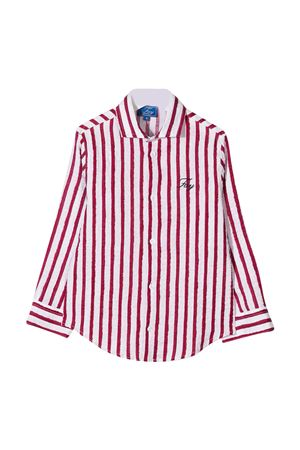 Camicia teen bianca a righe rosse Fay kids FAY KIDS | 5032334 | 5O5070OB320100ROT