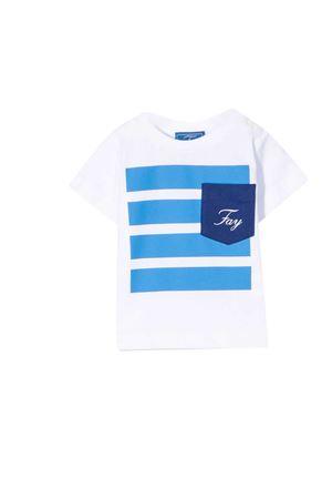 T-shirt bianca e azzurra Fay kids FAY KIDS | 8 | 5O8301OX130100