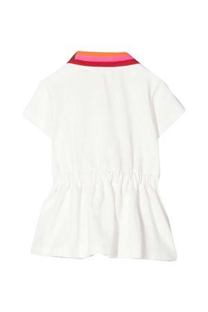 Abito bianco con collo multicolor Fendi kids FENDI KIDS | 11 | BFB360AVPF0TU9