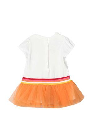 Abito bianco con logo multicolor Fendi kids FENDI KIDS | 11 | BFB361AEY6F0TU9