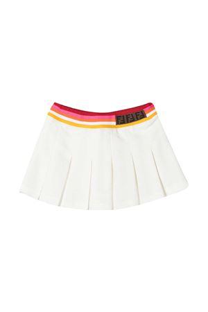 Gonna bianca con banda elastica multicolor in vita Fendi kids FENDI KIDS | 15 | BFE019AVPF0TU9