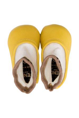 Yellow ballerina flats Fendi kids FENDI KIDS | -216251476 | BFR088AEYNF1BW2