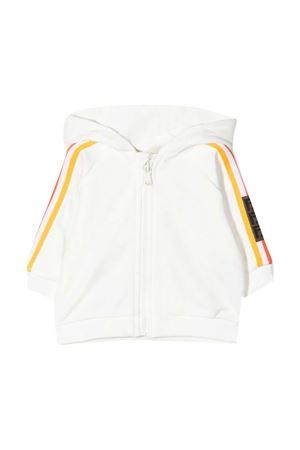 White sweatshirt with hood and multicolor bands Fendi kids FENDI KIDS | -108764232 | BUH0275V0F1DEQ