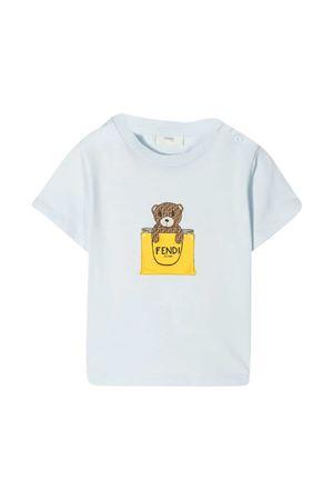 T-shirt azzurra Fendi Kids FENDI KIDS | 8 | BUI016ST8F19J4