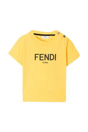 T-shirt gialla Fendi Kids FENDI KIDS | 8 | BUI019AEXLF1BW2