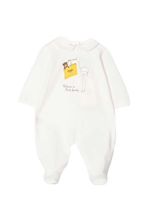 White Fendi kids babysuit FENDI KIDS | 75988882 | BUK078ST8F0TU9