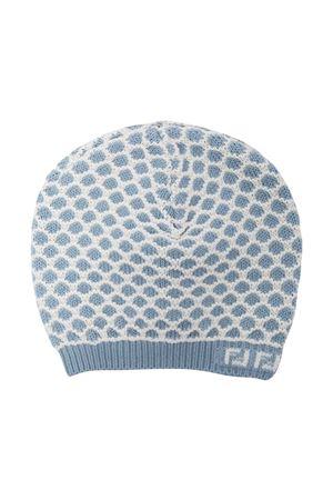 Cappello azzurro con trama ricamata Fendi kids FENDI KIDS | 75988881 | BUP027AEKBF19J4