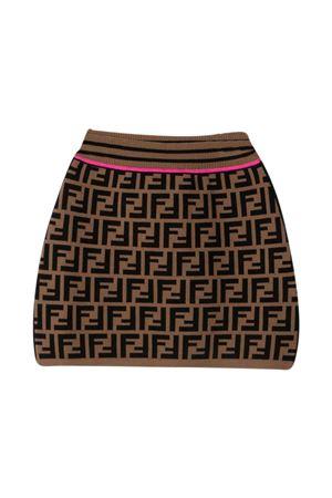 Fendi Kids FF brown skirt  FENDI KIDS | 15 | JFG070AEYDF1D8W