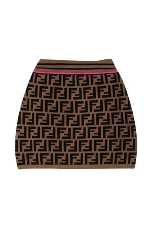 Fendi Kids FF brown skirt  FENDI KIDS   15   JFG070AEYDF1D8W