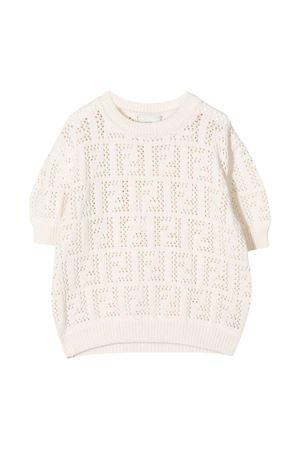 Fendi Kids ivory pullover  FENDI KIDS | 253743335 | JFG071AEZEF0TU9