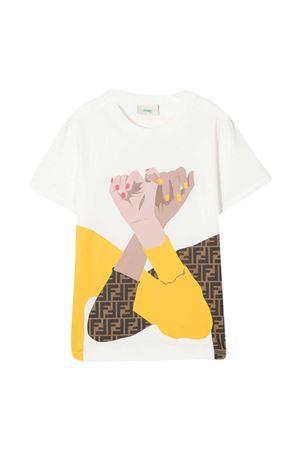 T-shirt bianca Fendi Kids FENDI KIDS | 8 | JFI2227AJF0TU9