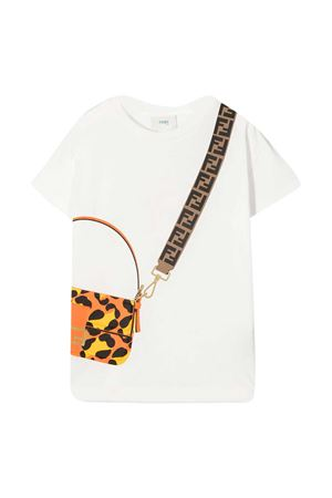Fendi Kids white teen t-shirt  FENDI KIDS | 8 | JFI2237AJF0TU9T