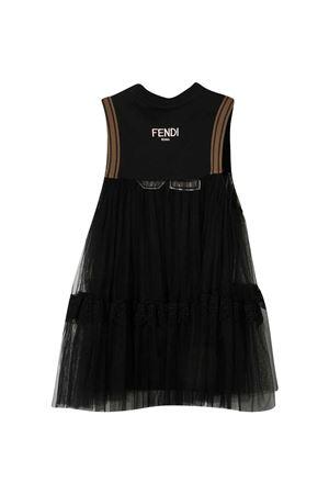 Vestito nero teen Fendi Kids FENDI KIDS | 40 | JFI224AEXKF0GMET