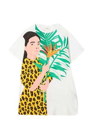 Fendi Kids white teen t-shirt  FENDI KIDS | 5032307 | JFI2257AJF0TU9T