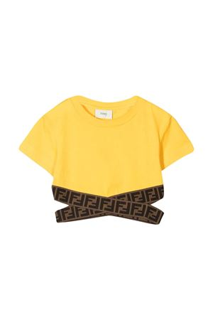 T-shirt gialla Fendi Kids FENDI KIDS   40   JFI2277AJF1BW2