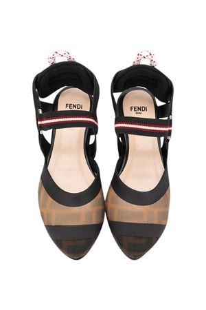 Brown Fendi kids ballet flats  FENDI KIDS | 12 | JFR303AADYF19MY